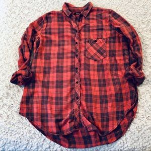 Urban Outfitters BDG Flannel in Red & Black Plaid